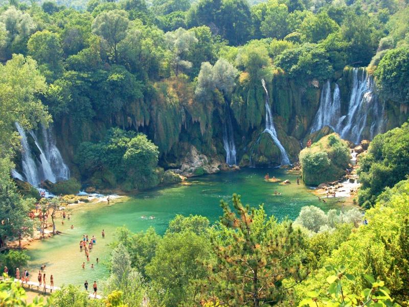 kravica waterfalls bosnia