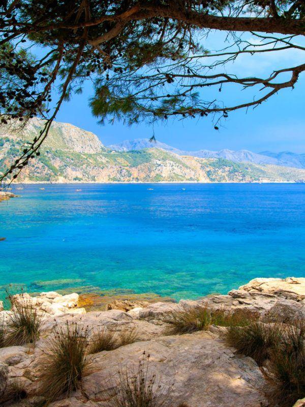 View of Lokrum island near Dubrovnik city