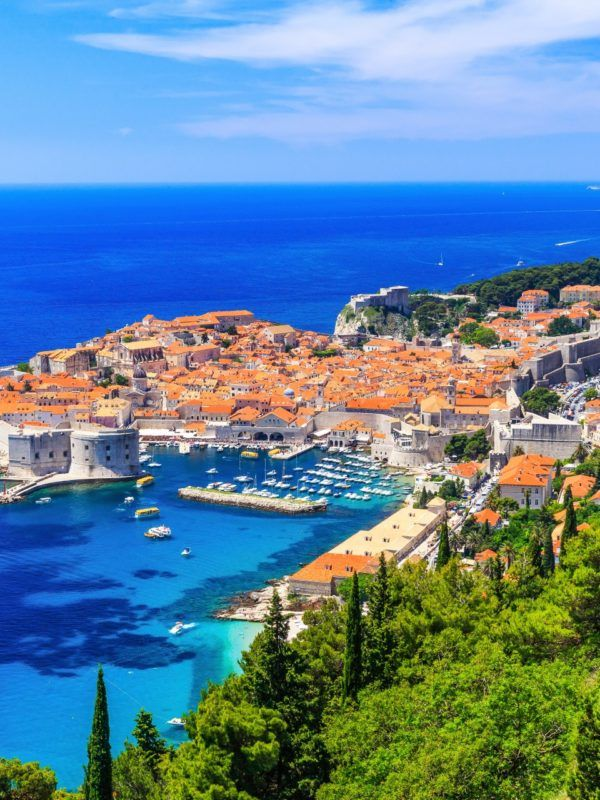 Dubrovnik, Croatia. Panoramic view of old town.