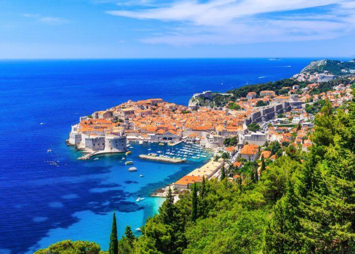Dubrovnik, Croatia. Panoramic view of old town.