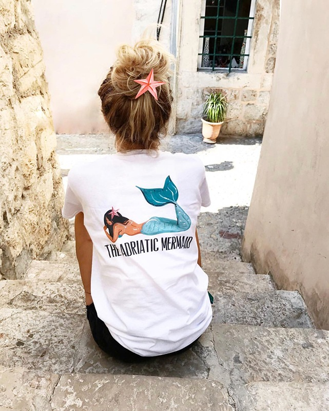 craft and stones t shirt adriatic mermaid