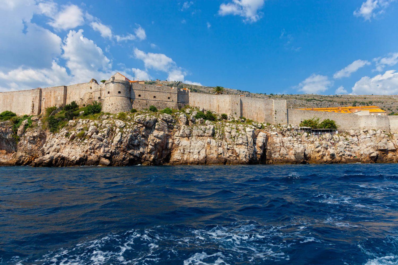 dubrovnik walls from sea