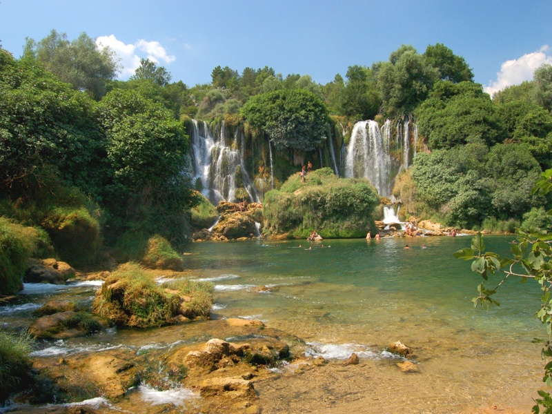 kravica waterfalls, bosnia and hercegovina