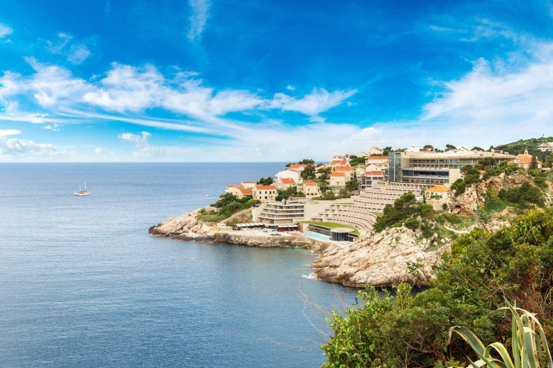 Dubrovnik harbor in a beautiful summer day, Croatia