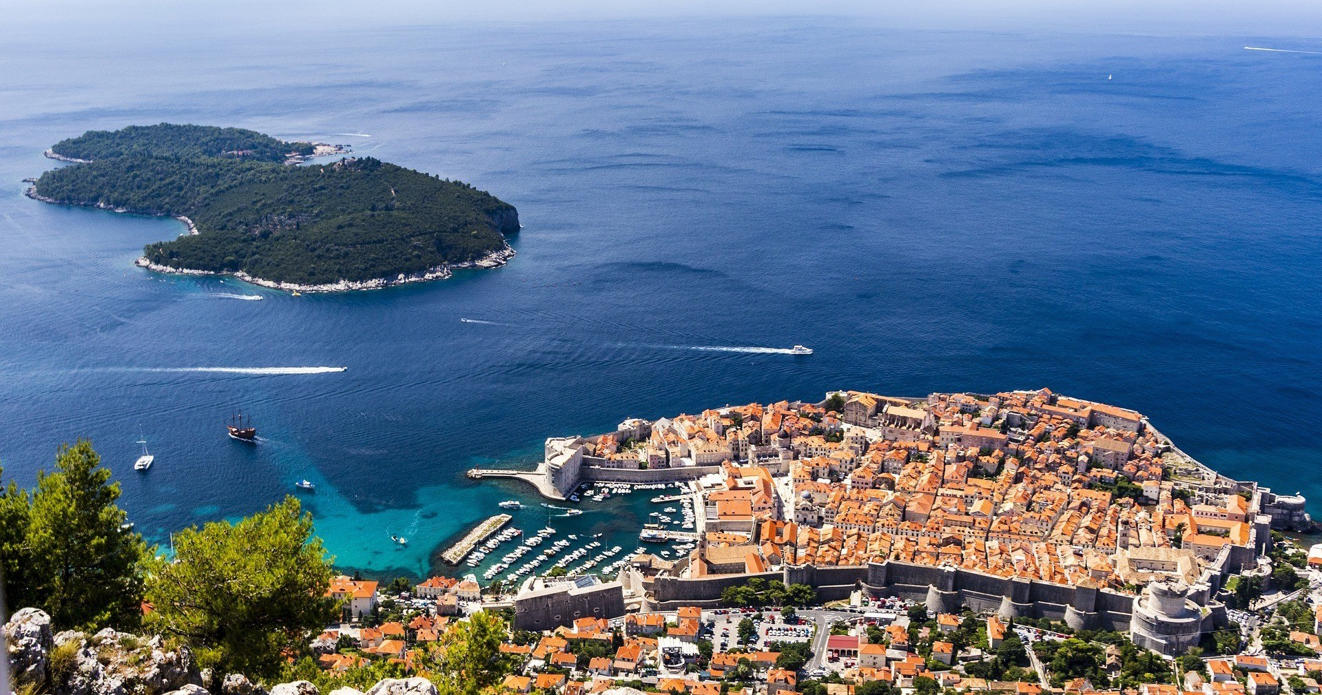 lokrum and dubrovnik
